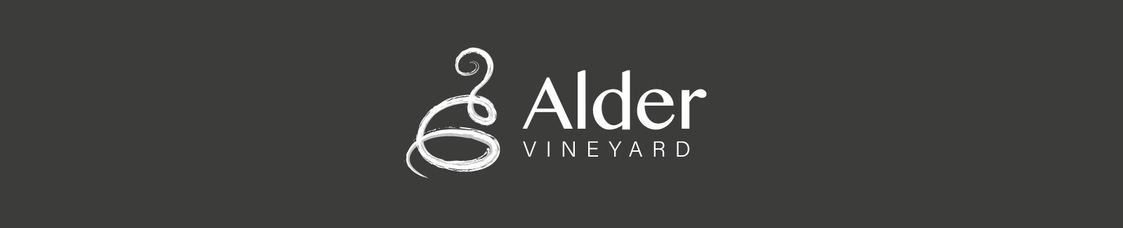Dark logo - Alder Vineyard Branding