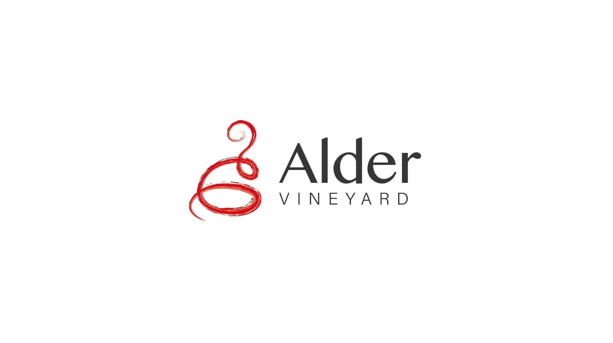 Logo header - Alder Vineyard Branding