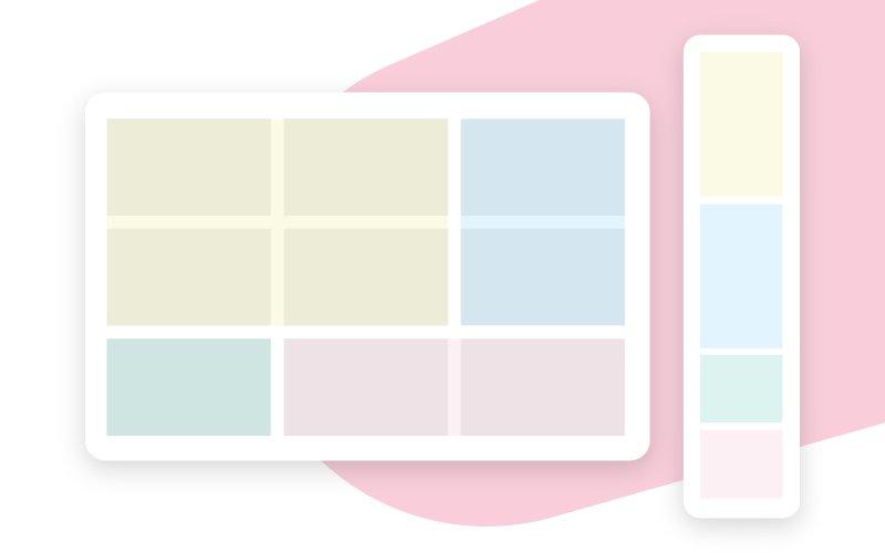 Grid system - Rebrand webpages
