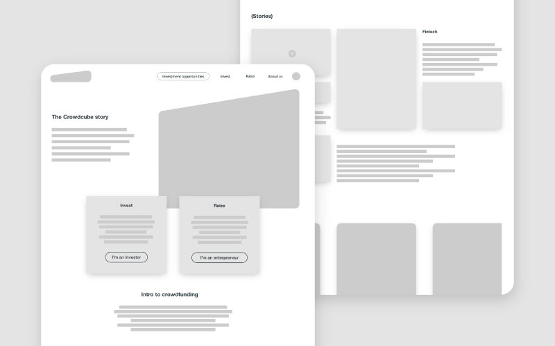 wireframe - Rebrand webpages