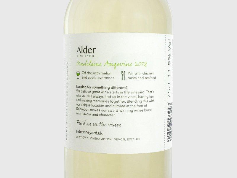 Back - Alder Vineyard wine labels