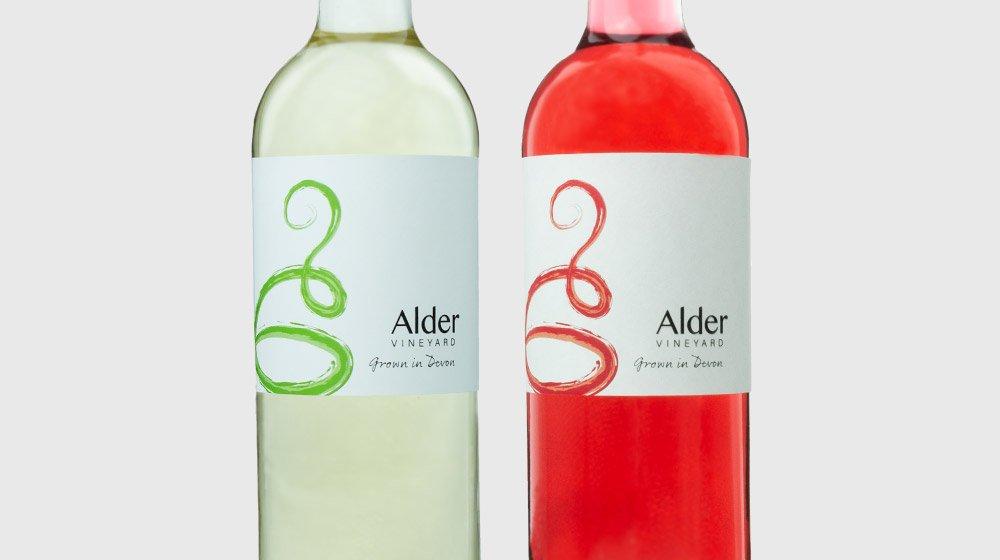 Alder vineyard wine labels - Adam Joe: a graphic + web designer in Cornwall / Devon