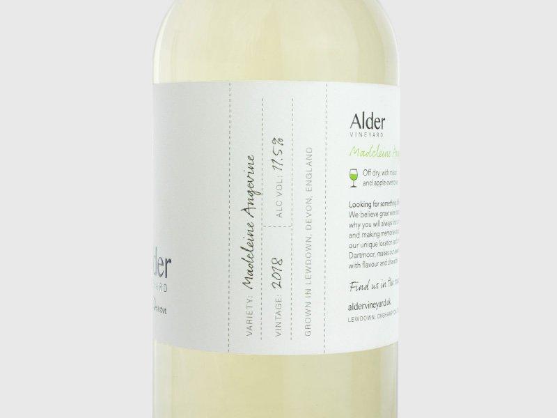 Side - Alder Vineyard wine labels