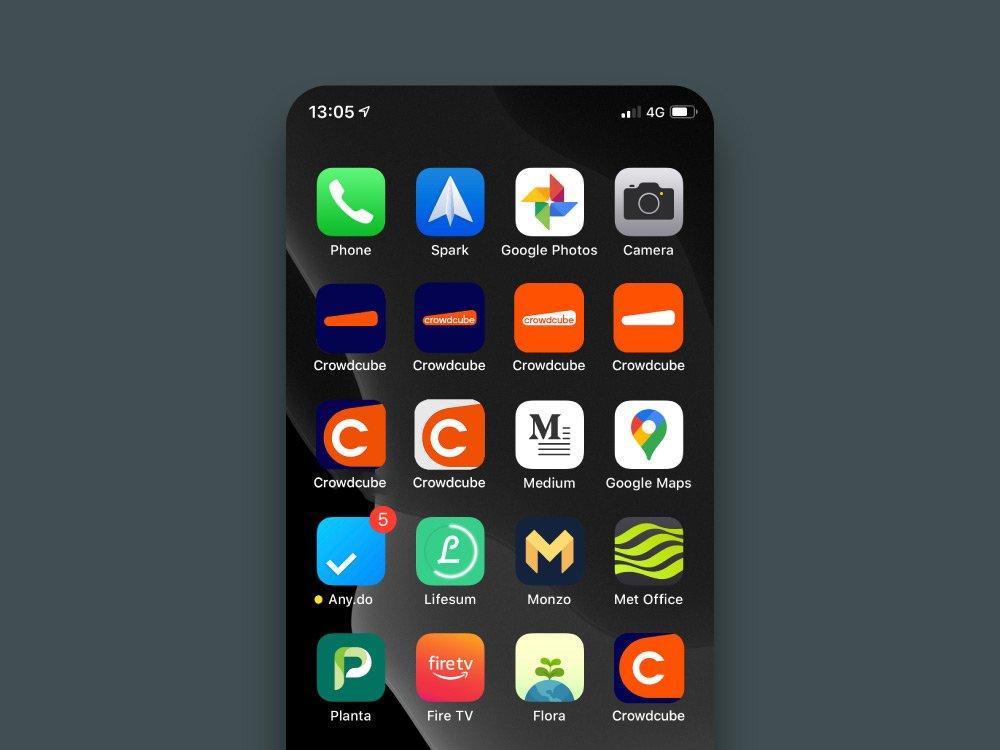 mobile mock up - Crowdcube rebrand